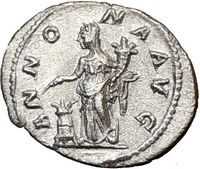 Annona, the Goddess of Harvests ANcient Silver Roman COins