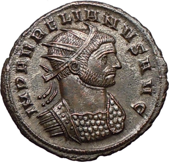 Aurelian 270 275ad Roman Emperor Certified Authentic