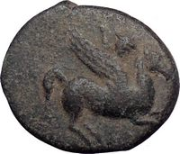 Ballerophon Hero Who Killed Chimera on Ancient Greek Coin for Sale