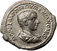 Diadumenian Portrait Ancient Silver Roman Coin Available to buy