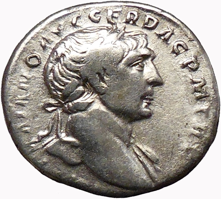 Trajan 103AD Silver Ancient Roman Coin Good Luck Commerce ...