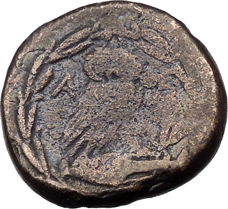 Bronce de Atenas (Atenea - Mochuelo sobre ánfora) / 195-190 a.C. I36968rb