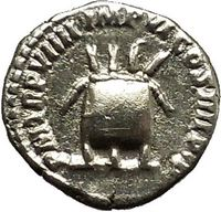 Modius on ANcient Silver Roman COin