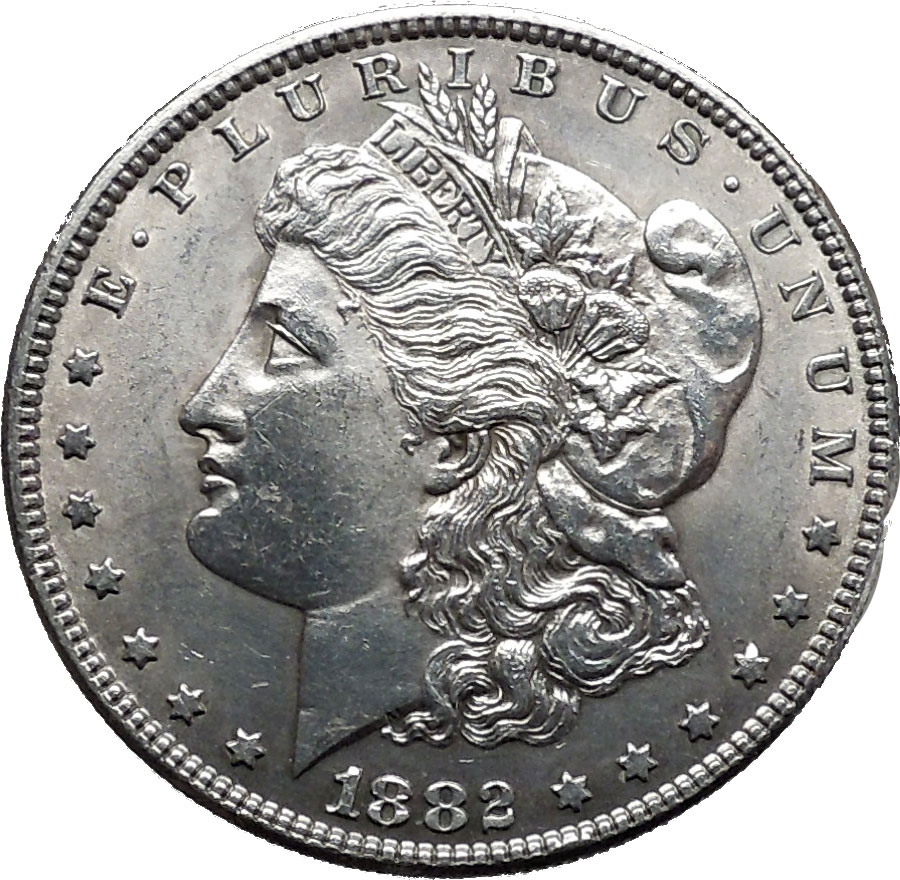 Morgan Silver Dollar 1882 Silver Authentic American Coin