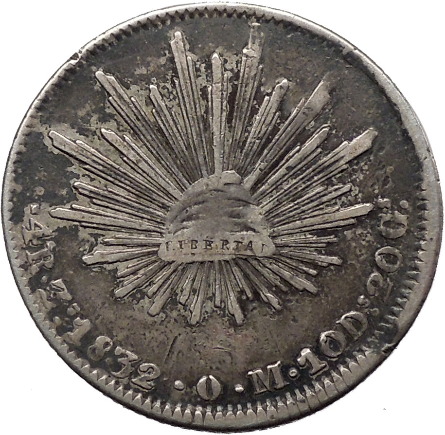 1832 Mexico 4 Reales Antique 1st Republic Silver Mexican