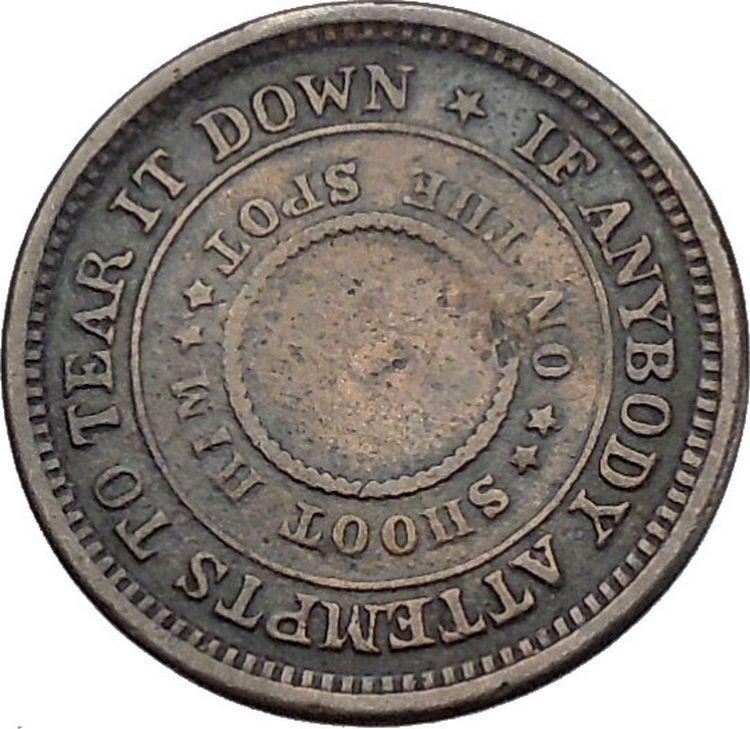 1863 Civil War Union Patriotic Token United States Of