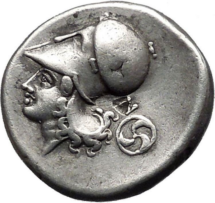 Corinth 375bc Athena Pegasus Silver Stater Ancient Greek