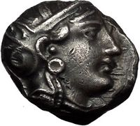 Athens Attica Greece Certified Authentic Ancient Silver Bronze and Gold Coins for Sale