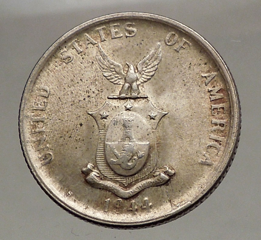 Philippine 5 Cents Coins: 1944 S PHILIPPINES Fifty Centavos United States Of America