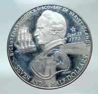 PROOF SILVER 1973 COOK ISLANDS 2 DOLLARS 20 YRS RARE! ROYAL CORONATION