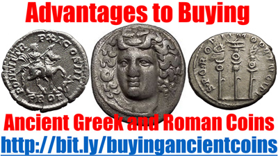 Advantes to Buying Ancient Greek and Roman Coins