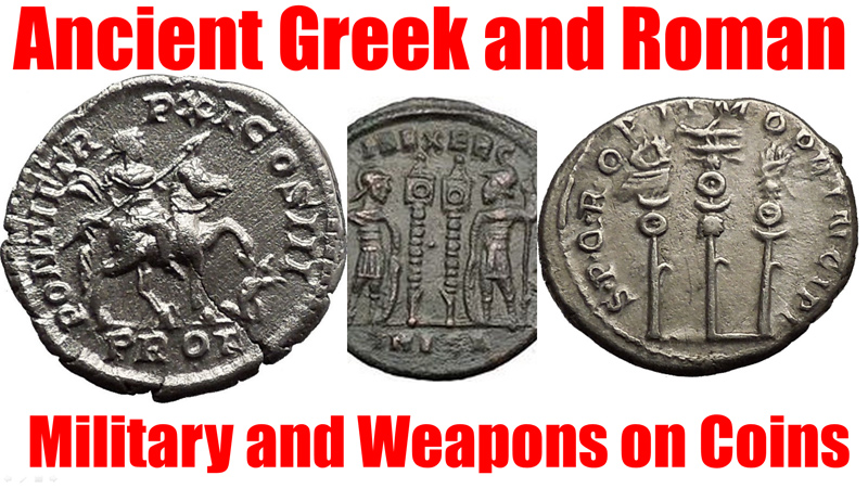 Ancient Greek and Roman Military Coins, Foritifications, Ships, Spears, Weapons, Helmets and more on Coins for Sale on eBay