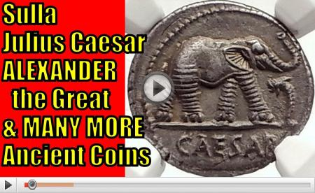 Dictators SULLA JULIUS CAESAR ALEXANDER the GREAT and More RARE NGC Ancient Greek and Roman Coins Video